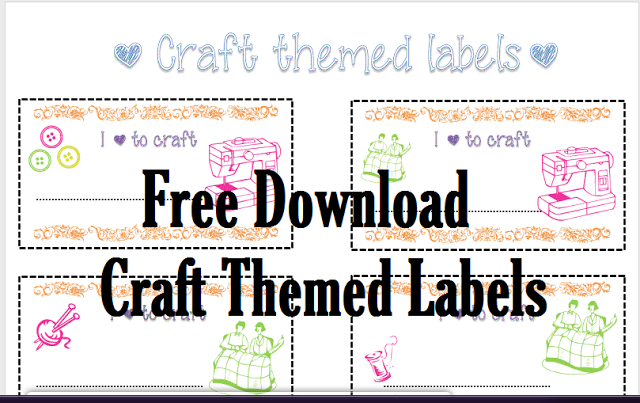 Craft Themed Free Printable Labels