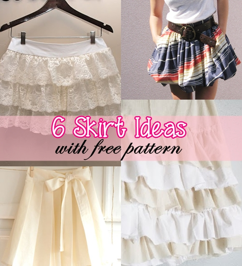 6 Skirt Ideas with Free Patterns
