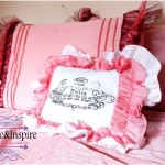 French Typography Ruffled Pillow Tutorial