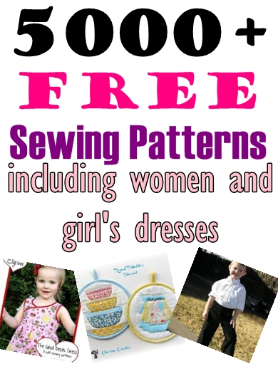 Over 5000 FREE Sewing Patterns Including Women and Girl's Dresses on Craftsy