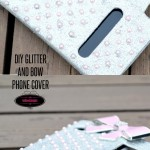 Glitter and Bow Phone Case DIY