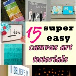 15 Super Easy Canvas Art Tutorials