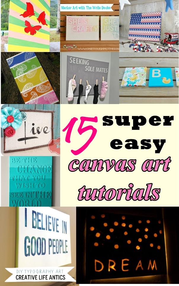 15 Super Easy Canvas Art Tutorials