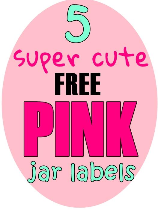 5 Pink Free Printable Labels for Jars at World Label