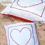 Sequined Silky Heart Pillow Tutorial (Decorative Pillows)