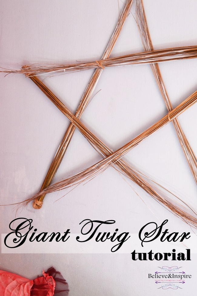 Giant Straw Star Tutorial – Cheap Wall Art