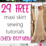 29 BEAUTIFUL Maxi Skirts Free Sewing Patterns and Tutorials