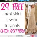 29 BEAUTIFUL Maxi Skirts Free Sewing Patterns and Tutorials