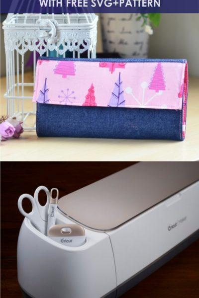 Super Simple Handmade Wallet Tutorial (Free Sewing Pattern+SVG)