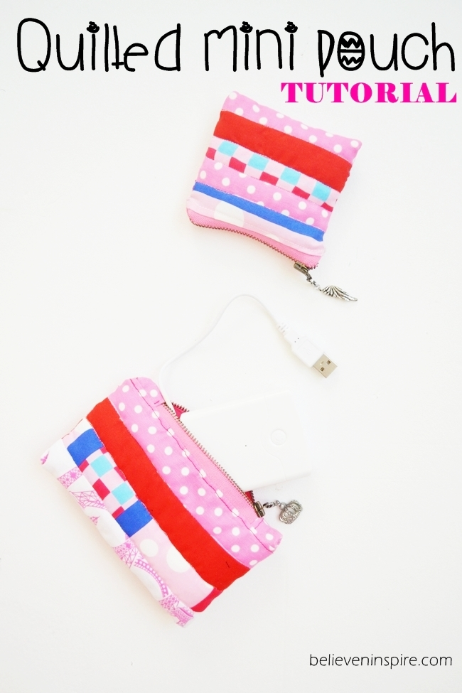 EASIEST and CUTEST Mini Quilted Pouch Tutorial