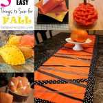 5 Insanely Easy Things to Sew for Fall