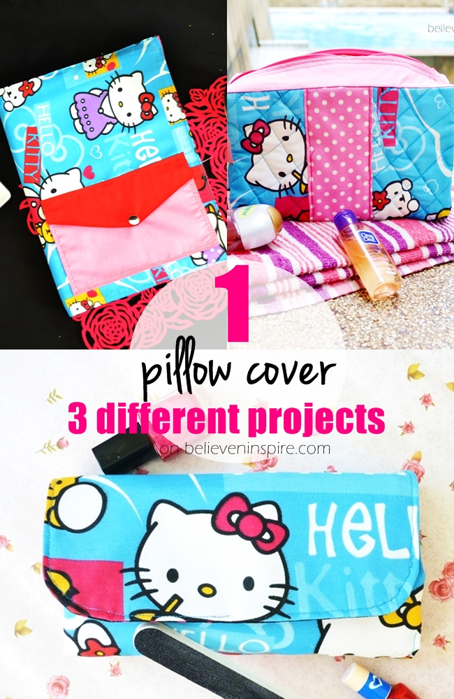 1 Pillow Cover 3 Different Projects (Things to Sew from Pillowcases)
