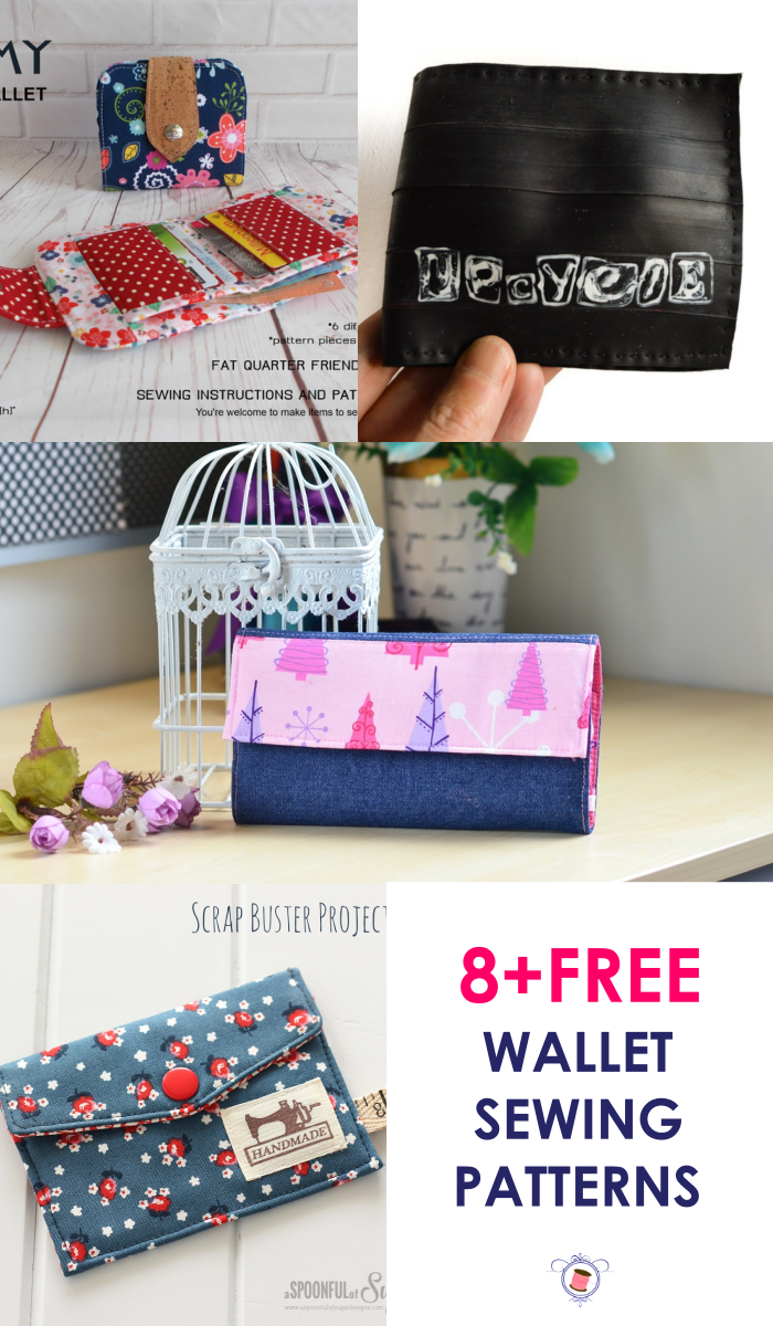 Learn to sew a DIY wallet with several different wallet sewing pattern PDF. You will find a tutorial for tri-fold wallet pattern free of cost. Also, a men's wallet pattern. You will learn to sew a wallet with pockets.