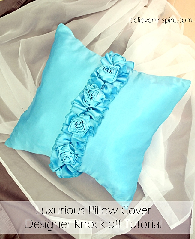 Luxurious silk pillowcase designer knock off tutorial