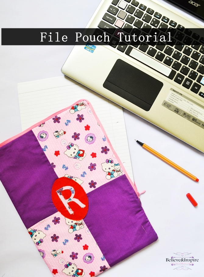 How to Sew a File Pouch on believeninspire.com