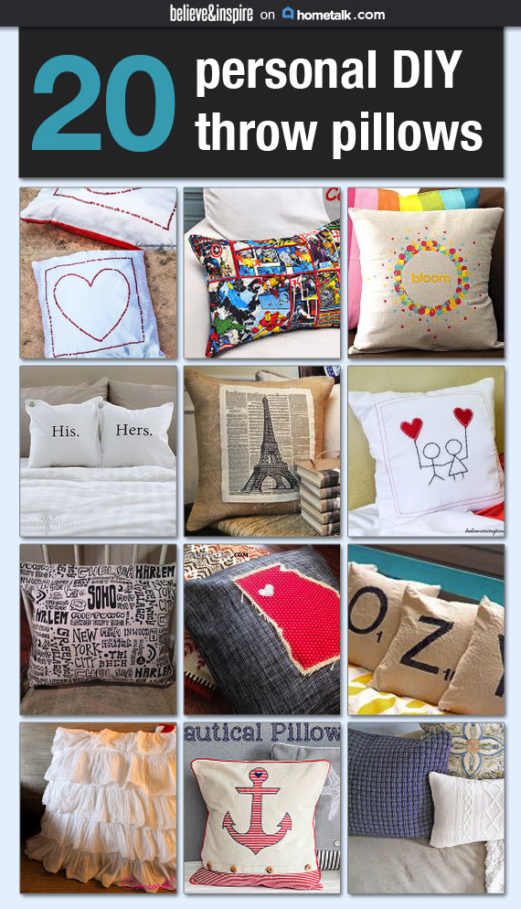20 Unique DIY Throw Pillows