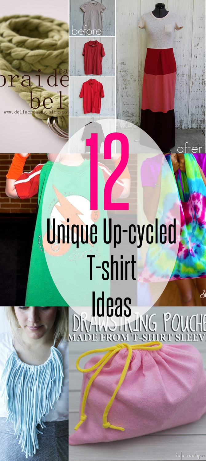 12 Unique Up-cycled T-shirt Ideas