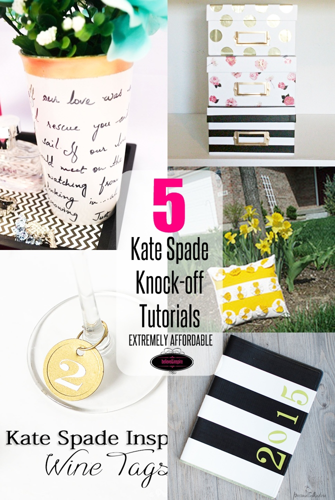5 Kate Spade Home Decor Knock-off Tutorials on believeninspire.com