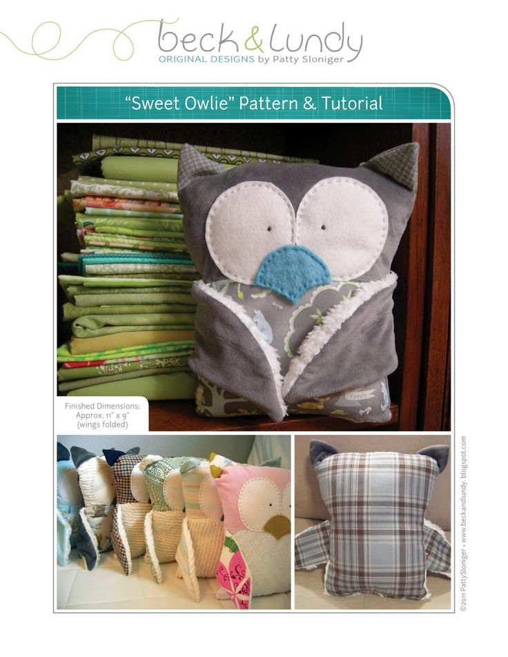 Owl Softie - Free Sewing Pattern