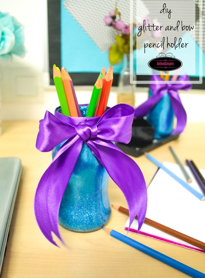 Pencil Holders from Old Jam Jars