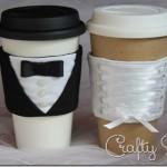 Bride and Groom Coffee Sleeves Sewing Pattern