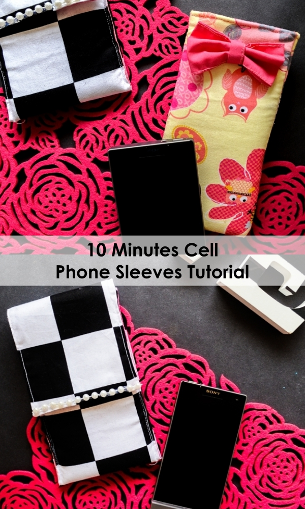 10-minute-phone-sleeve-sewing-tutorial-on-sewsomestuff.com beginner sewing projects | easy sewing projects for gifts | hand sewing projects for beginners | first sewing projects for adults | beginner sewing projects for kids |