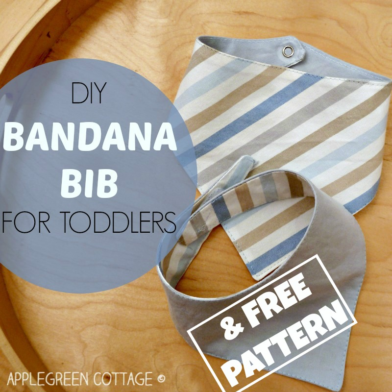 Bandana Bib sewing tutorial