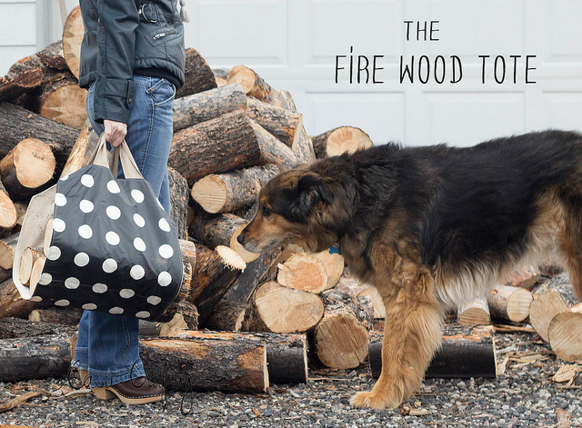 Fire wood tote tutorial