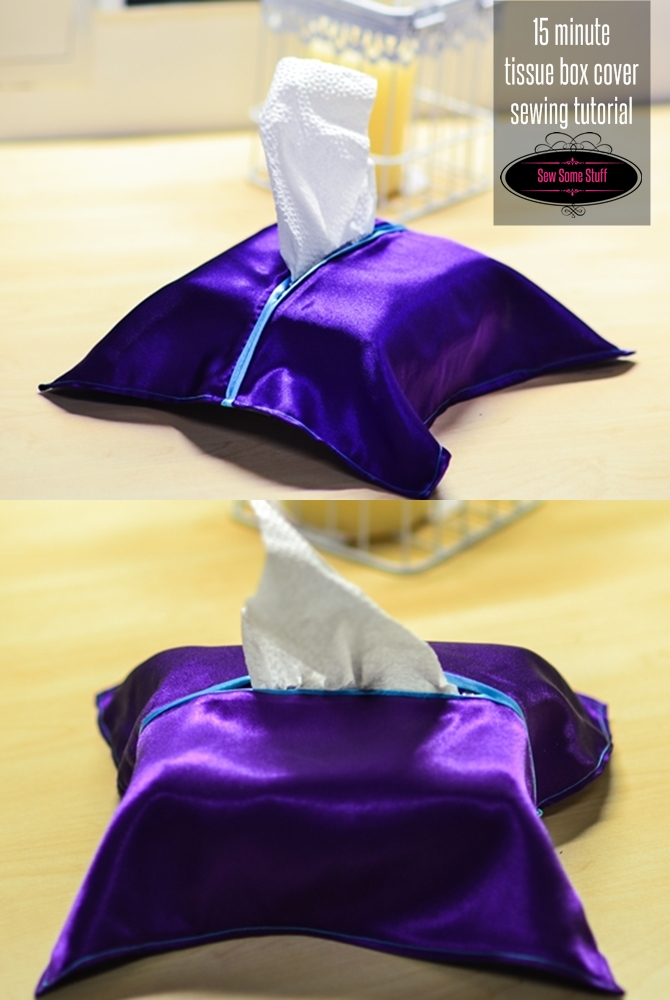 15 minute tissue box cover sewing tutorial on sewsomestuff.com
