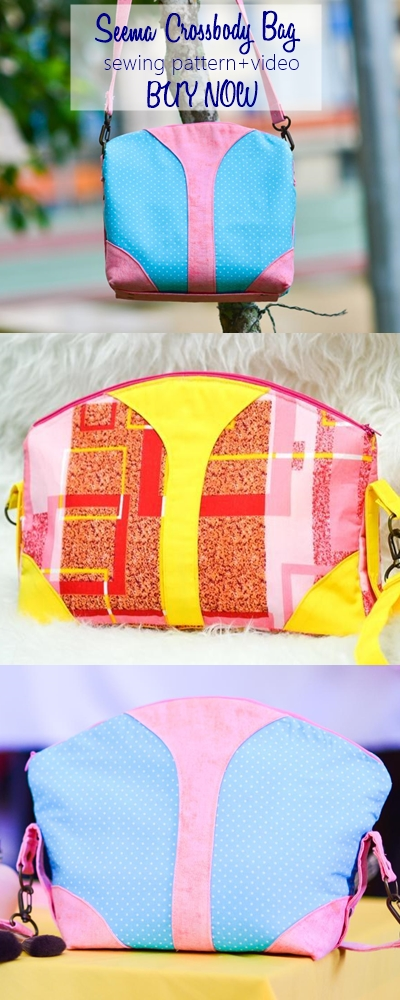 This is SUCH a beautiful crossbody bag sewing pattern perfect for any woman! Comes with an outside and inside zipper pocket as well as video sewing tutorial which makes it perfect bag sewing pattern for beginners. BUY AND MAKE IT NOW!