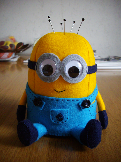minion pin cushion or plushie tutorial and pattern free