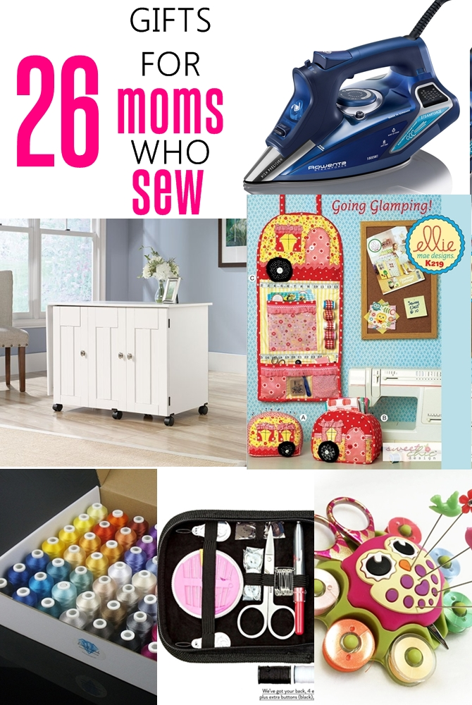 26 gifts for moms who sew on sewsomestuff.com. This list of gift ideas for SEWING MOMS is PERFECT! There are ideas for EVERY budget. Totally going to refer to this list for my next gift shopping.