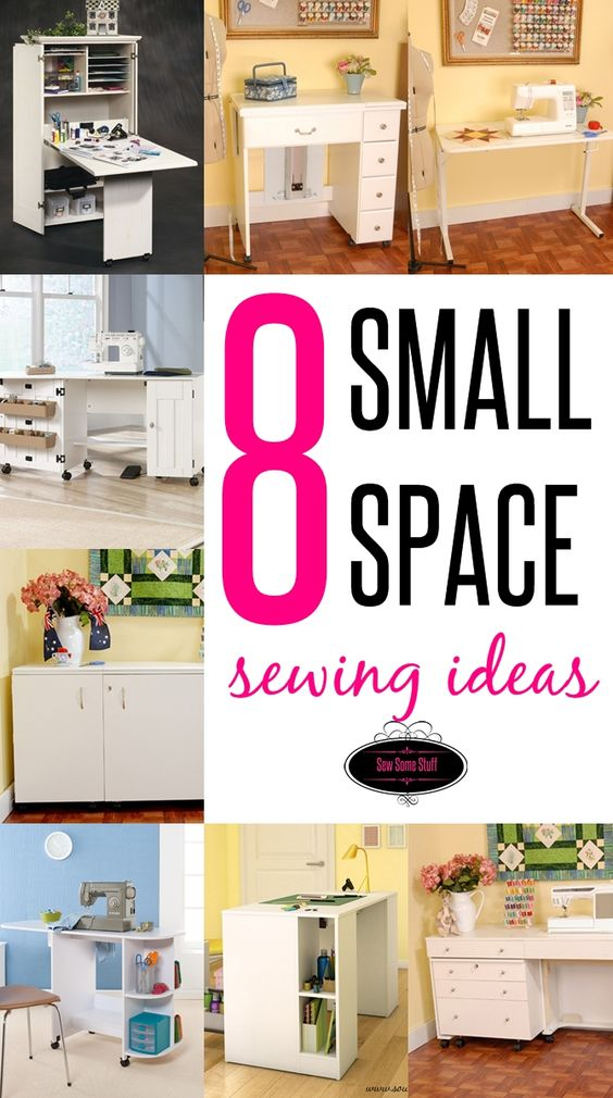 8 wonderful sewing room ideas for small spaces sew some stuff - Making use of small spaces decor ...