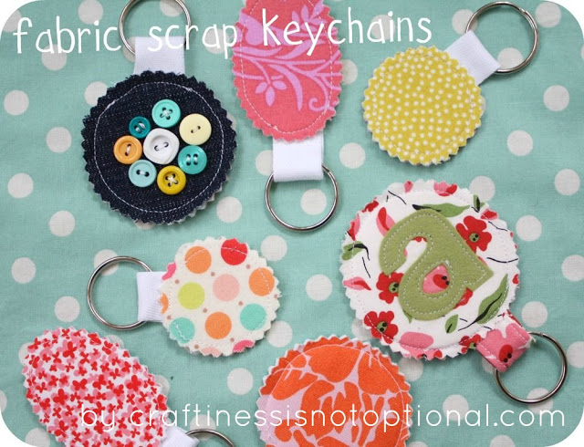 SCRAP YOUR STASH GUEST POST: FABRIC SCRAP KEY CHAIN TUTORIAL