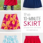 DIY Old Shirts to Skirts