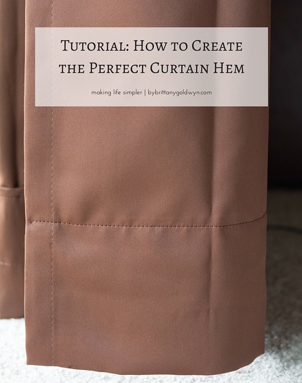 How to hem the curtains PERFECTLY