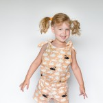 Knot and Bow Romper for Kids FREE pattern