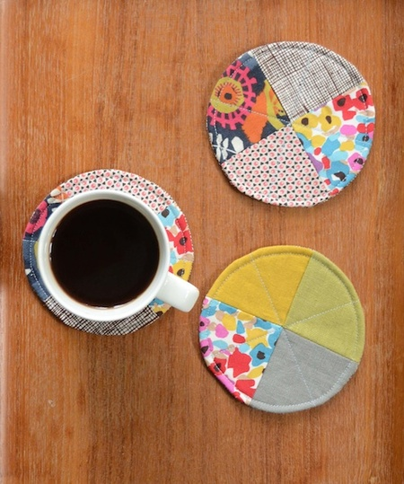 Quilted Circle Coasters Tutorial