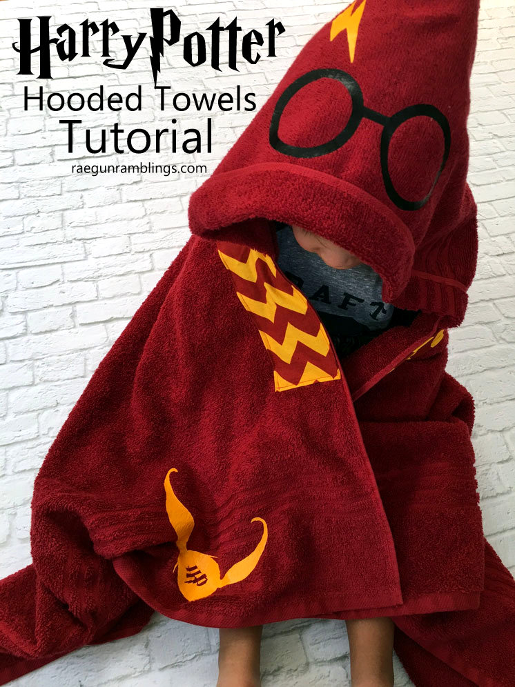 Harry Potter Hooded Towel Tutorial