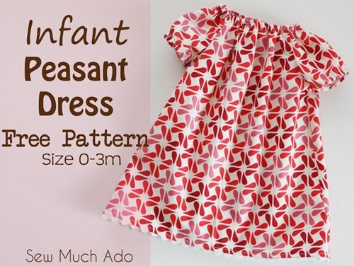 Infant Peasant Dress Free Pattern