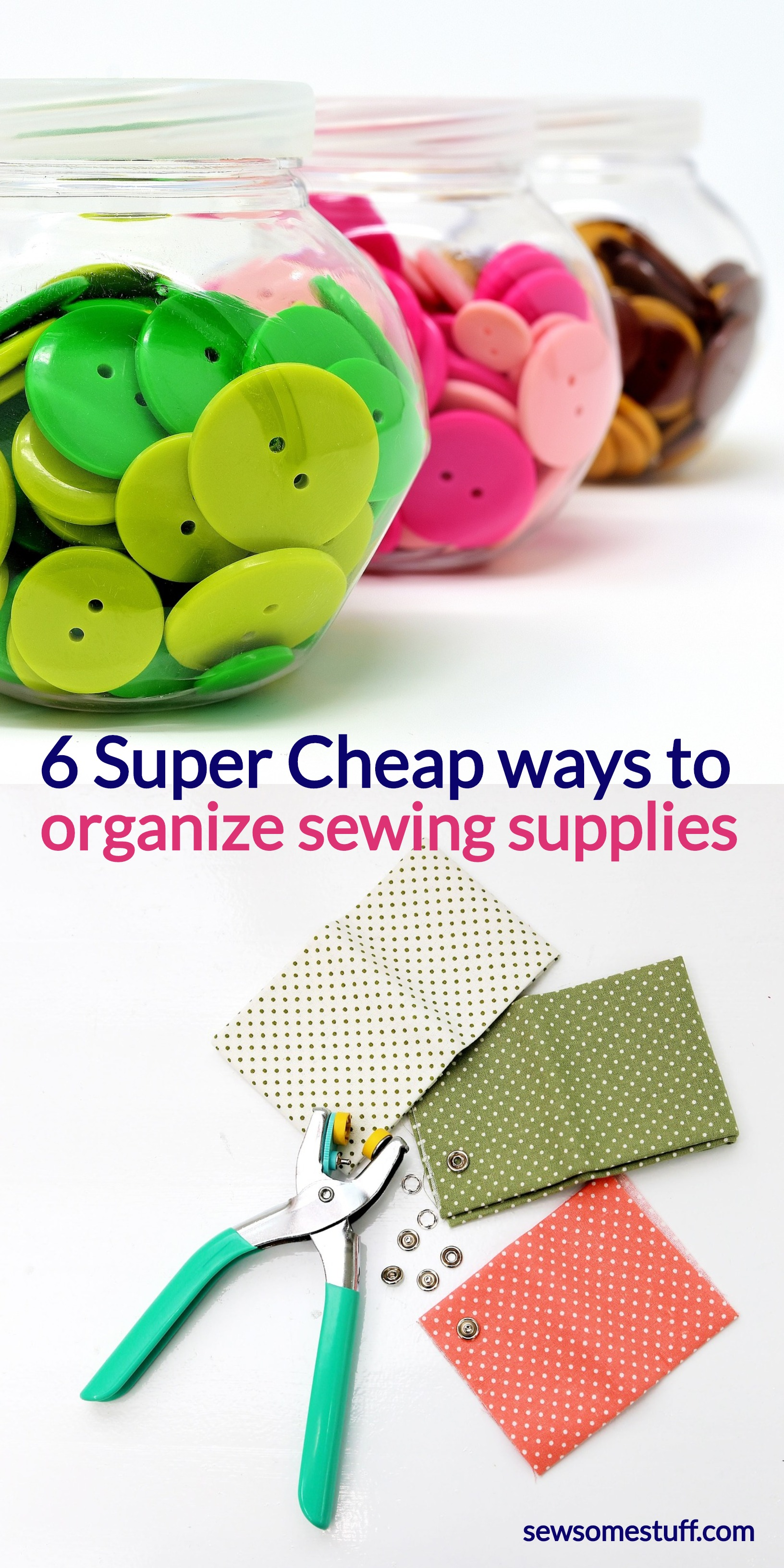 Check out these super cheap and easy sewing room storage ideas! craft room ideas for small spaces, setting up sewing room, how to organize sewing supplies, sewing nook ideas, crafters desk, sewing room storage and organization products, small sewing room organization
