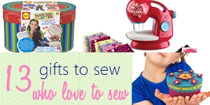 13 awesome gifts for kids to who LOVE to sew. Great to encourage kids to sew