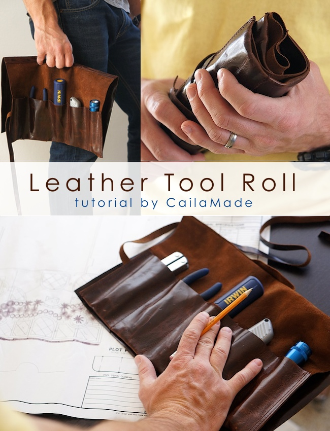 Leather Tool Roll Sewing Tutorial