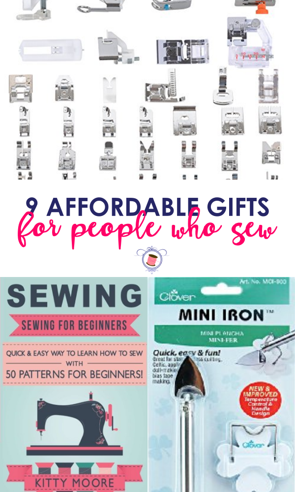 9 awesome gifts for people who sew | SUPERB list for $20 Gifts for People Who Sew! Cheap gifts for people who sew. Affordable gifts for people who love to sew. Gifts for sewists.