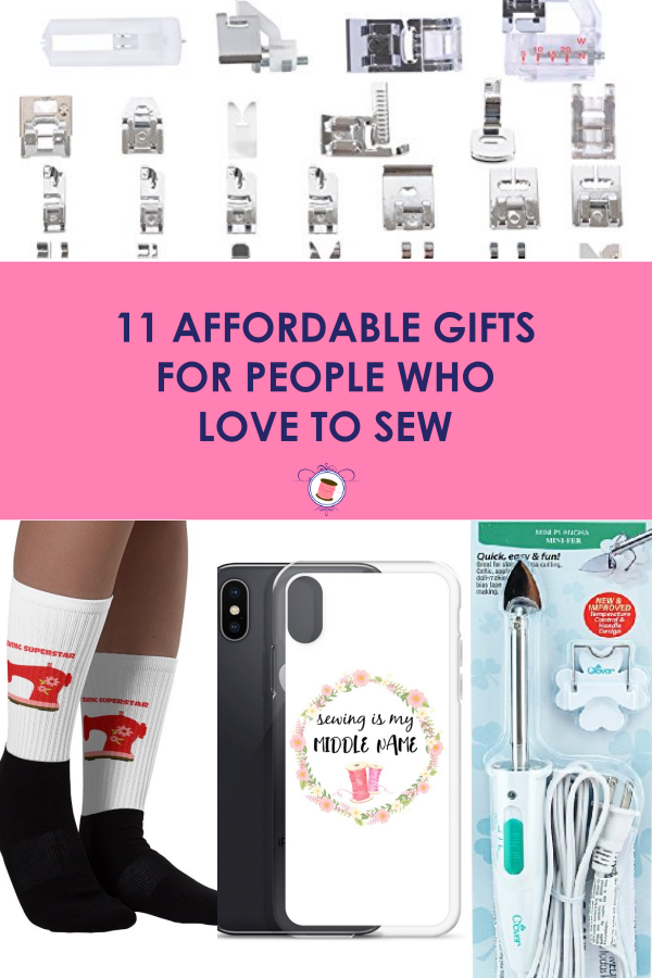 SUPERB list for $20 Gifts for People Who Sew! Cheap gifts for people who sew. Affordable gifts for people who love to sew. Gifts for sewists.