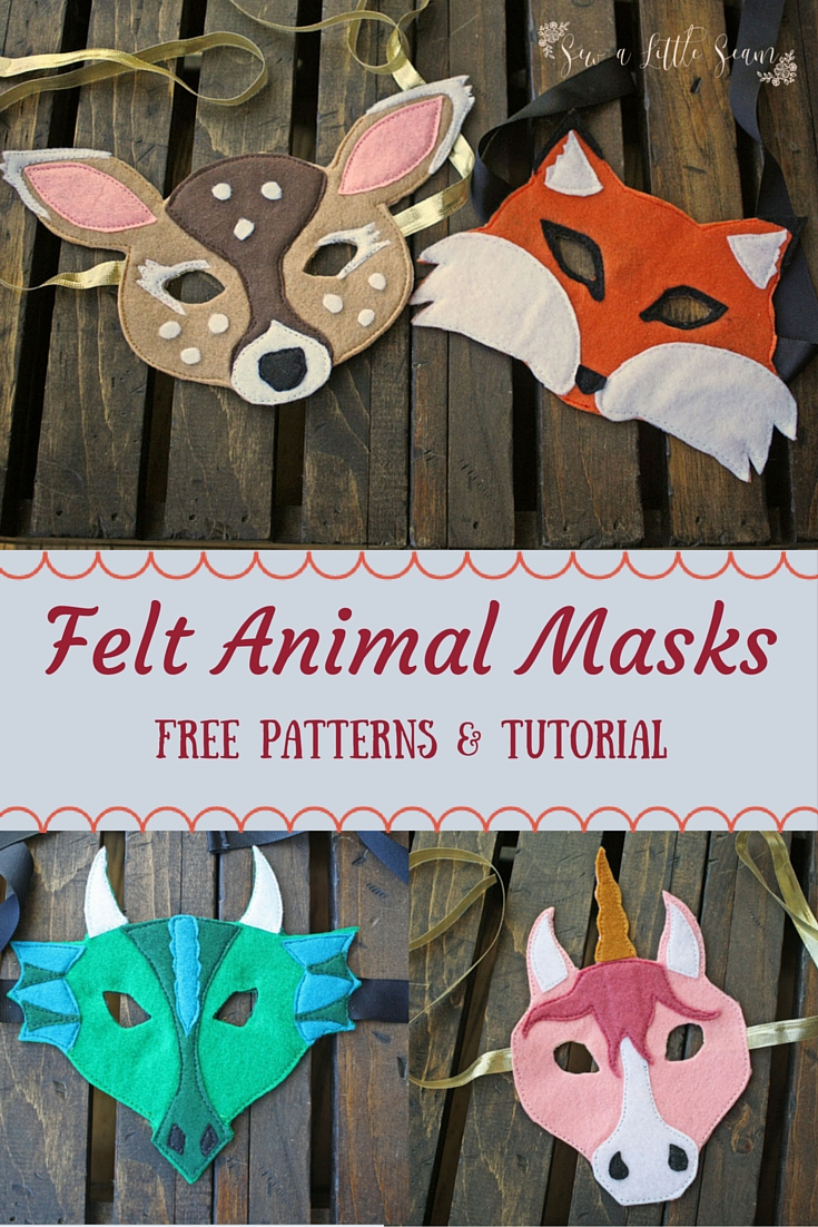 Felt Animal Mask Free Pattern and Tutorial