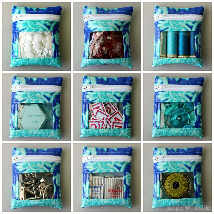 Mini Vinyl Peek a Boo Pouches