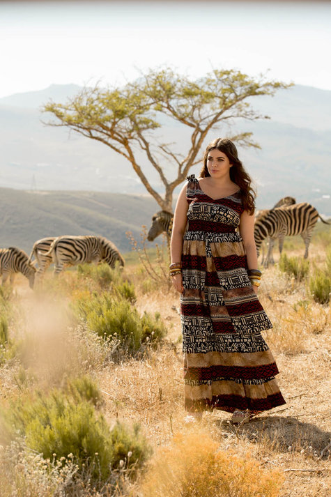 Plus Size Layered Maxi Dress Sewing Pattern