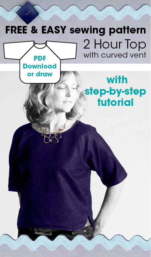 2 Hour Top free sewing pattern for women