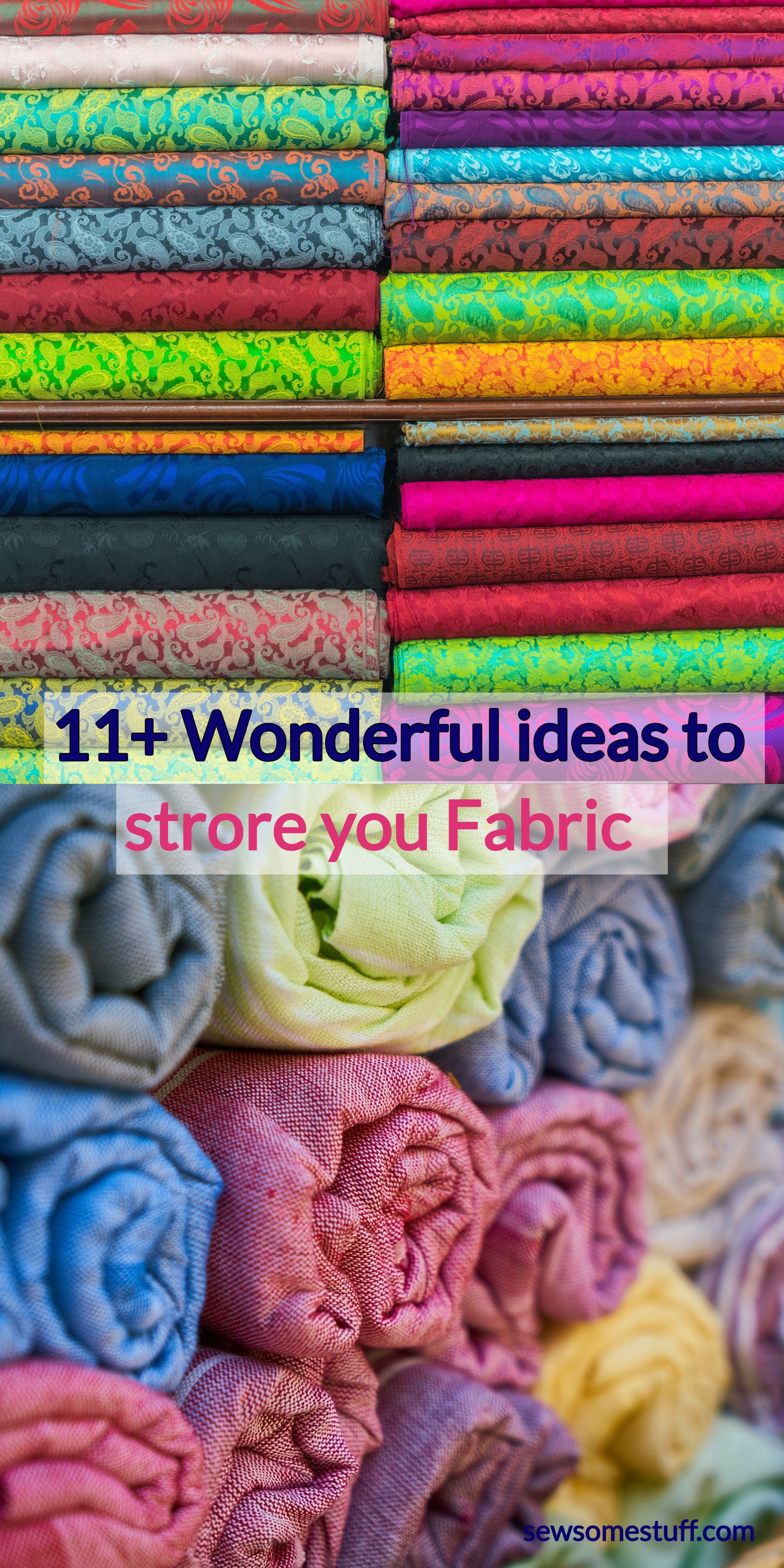 Check out these super awesome fabric storage ideas, Fabric Storage Ideas for Sewing Rooms fabric organization ideas storage for sewing room